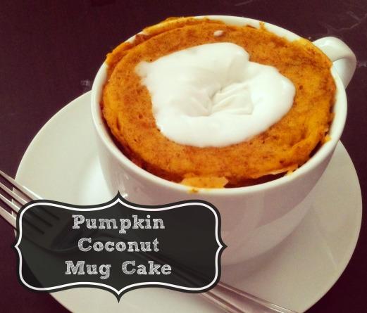 pumpkin coconut mug cake.